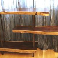 Étagère sono et métal - Sono exotic wood and metal shelves