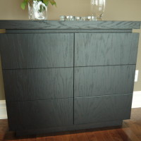 Buffet vaisselier chêne teint - Stain oak dresser