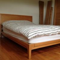 Lit queen érable - Maple queen bed