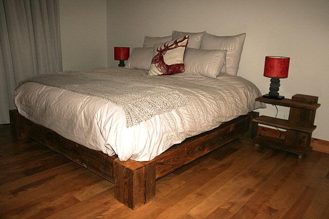 Lit queen en pruche hemlock queen bed espace mosaik boutique - Lit bois massif 180x200 ...