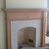 Manteau de cheminée acajou - Mahogony mantlepiece