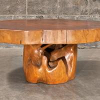 Table à café en teck et acajou - Mahogony and teak coffee table