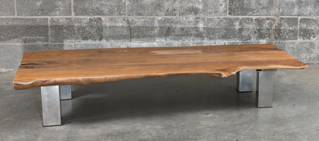 Table A Caf Teck Et M Tal Teak And Metal Coffee Table