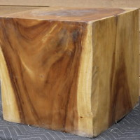 Bloc de bois exotique suar carré - Exotic suar wood square block