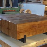 Table à café en pruche recyclée de grange - Recycled hemlock barn wood coffee table