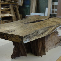 Table café tamarin et racine de teck bois exotique - Tamarin and teak root exotic wood coffee table