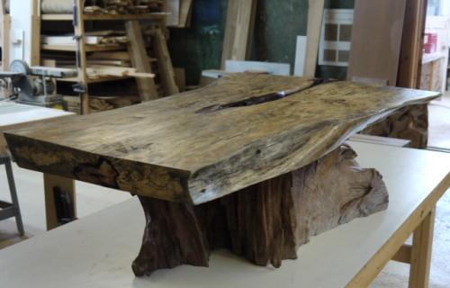 Table Caf 233 Bois Exotique Organique Tamarin Et Teck Live