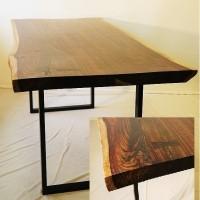 Table dîner sono bois exotique Bali - Sono exotic wood dining table - Live edge