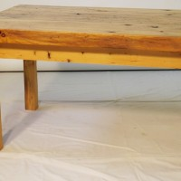 Table café bois pruche recyclée - Recycled hemlock coffee table