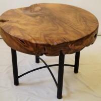 Table café teck - Base métal - Teak coffee table - Metal base