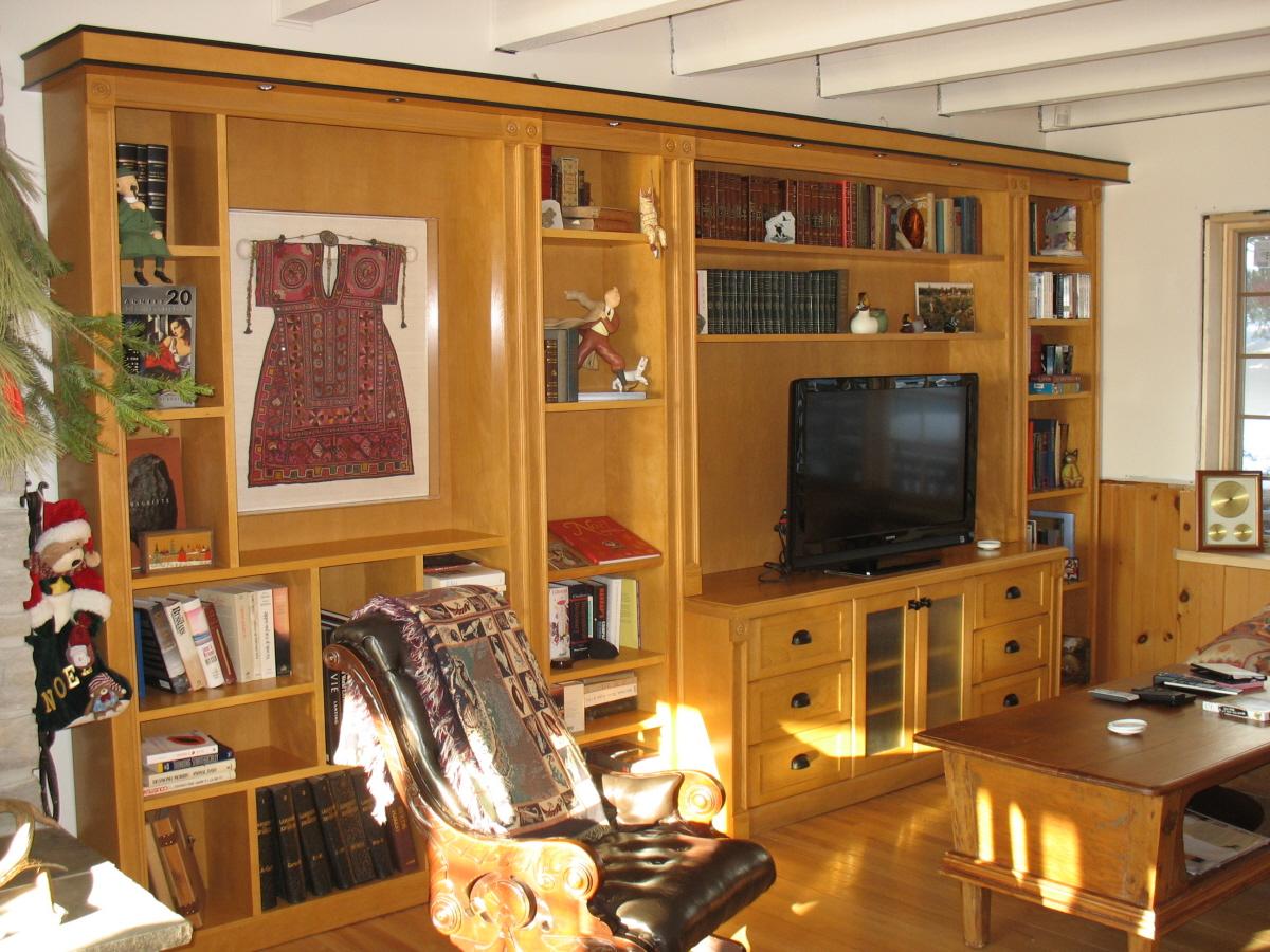 Bibliotheque merisier