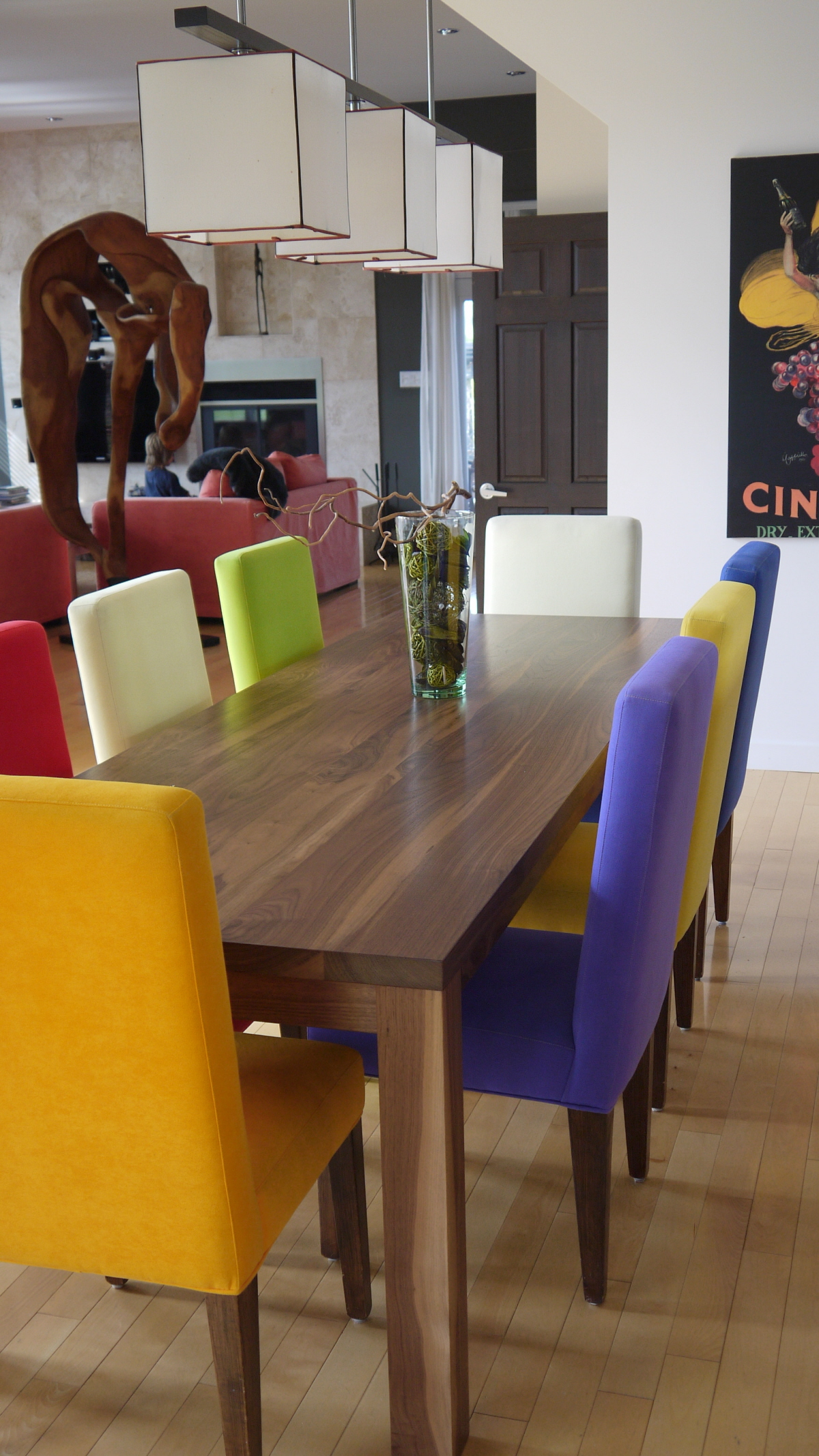 Table a diner noyer noir