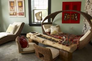 Décor de meubles exotiques Indonésiens