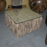 Wood branch and glass Coffee Table
