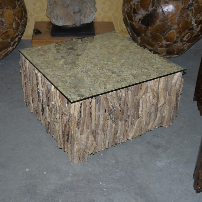 Exotic Glass Coffee Tables: Solid Wood Art Furniture From Bali