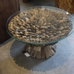 shore wood and glass Coffee Table