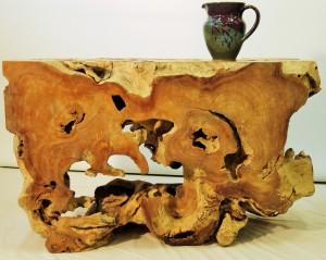 Racine teck et poterie