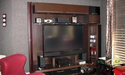 B nisterie sur mesure ebeniste meubles uniques - Mur pour televisie ...