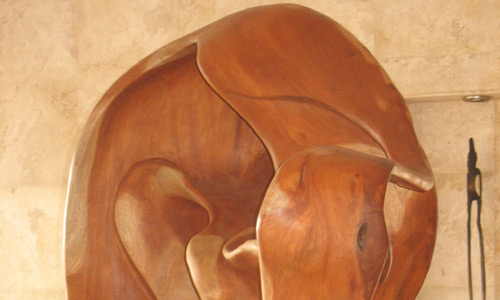 Mahogany Sculpture