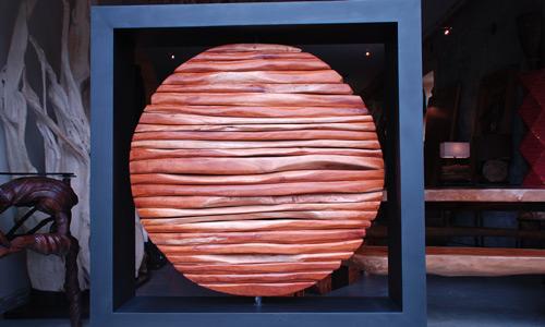 Sphere en Acajou