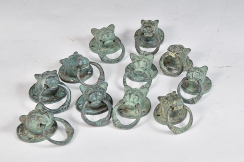 Heurtoir chat petit en laiton – Brass cat knocker small- 1