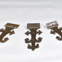Pentures décoratives en laiton - Brass decorative hinge