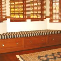 Banc contour fenêtre érable - Maple window bench