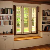 Banc contour fenêtre pin - Window pine bench