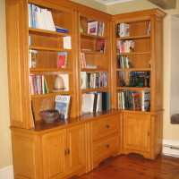Bibliothèque érable - Maple bookshelf