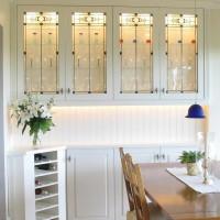 Buffet Vaisselier merisier peint - Paint birch dresser