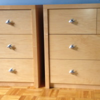 Commode merisier peint - Paint birch chest of drawers