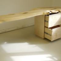Console érable organique - Live edge maple side table