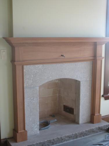 Manteau de cheminée acajou – Mahogony mantlepiece