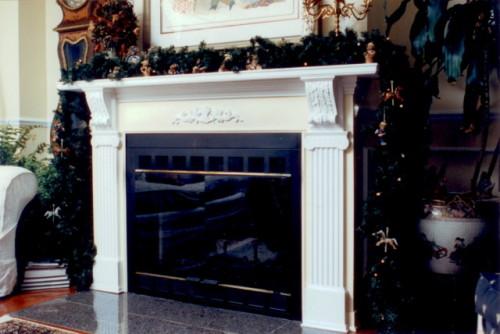 Manteau de cheminée  mdf peint – Paint mdf mantlepiece