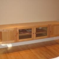 Meuble télé érable - Maple tv cabinet.1