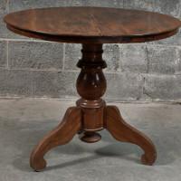 Table à dîner ronde en teck - Round dining teak table