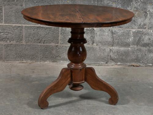 Table à dîner ronde en teck – Round dining teak table