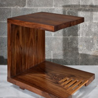 Table d'appoint en teck - Teak corner table