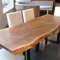 Table diner noyer noir organique - Live edge black walnut dining table.1