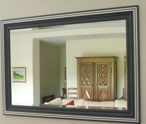 Mirroir érable et métal – Maple and metal mirror