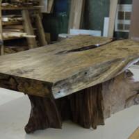 Table café tamarin et racine de teck bois exotique - Tamarin and teak root exotic wood coffee table