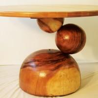 Table dîner suar et merisier - Yellow birch and suar dining table