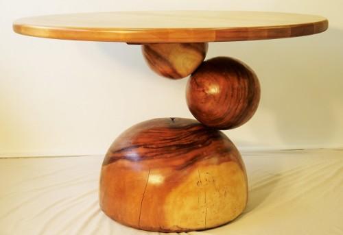 Table à dîner suar et merisier – Yellow birch and suar dining table