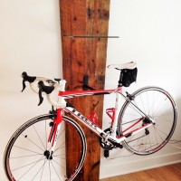 Support - Vélo - bois de grange - recyclé - Recycled - wood - barn - Bycicle rack