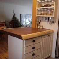 Comptoir - cuisine - parota - Parota - Kitchen - island